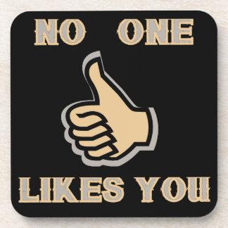 Porta-copo Emoji: Ninguém gosta de você