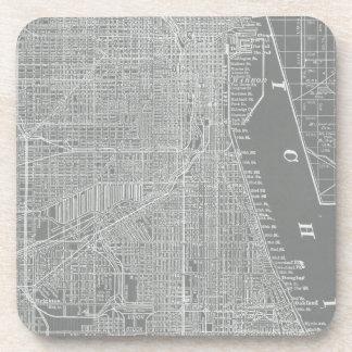 Porta-copo Esboço do mapa da cidade de Chicago