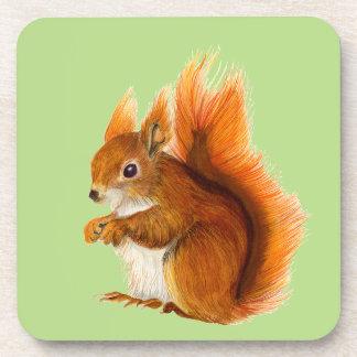 Porta-copo Esquilo vermelho pintado na arte dos animais