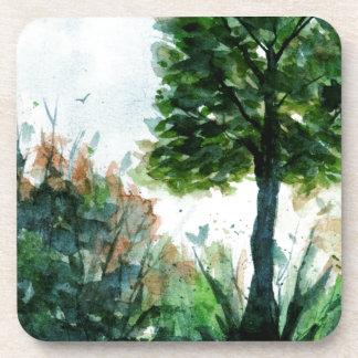 Porta-copo Estações da natureza da árvore da arte da paisagem