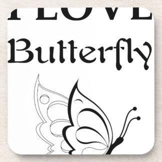 Porta-copo Eu amo a borboleta