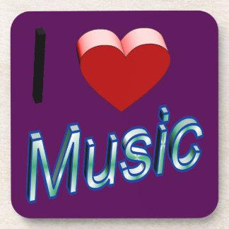 Porta-copo Eu amo a música 2
