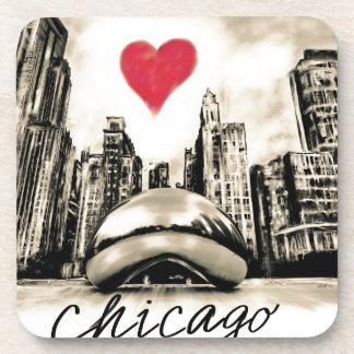 Porta-copo Eu amo Chicago
