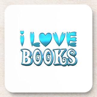 Porta-copo Eu amo livros
