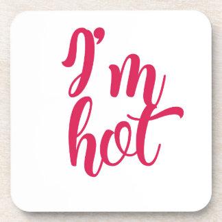 Porta-copo Eu estou quente