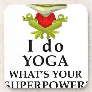 Porta-copo eu faço a ioga que s seu poder super