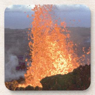 Porta-copo explosão do vulcão da lava