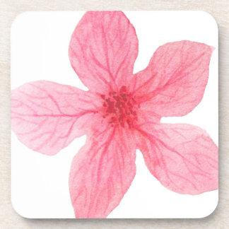 Porta-copo flor cor-de-rosa da aguarela