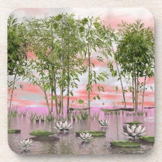 Porta-copo Flores e bambus de Lotus - 3D rendem