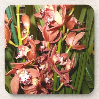 Porta-copo Folha dourada - orquídeas da borda