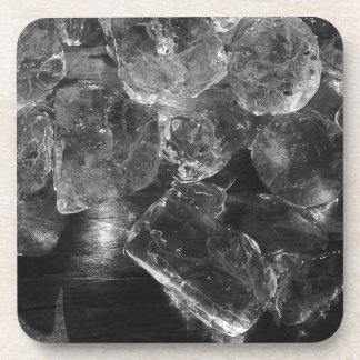 Porta-copo Fotografia criativa do gelo preto e branco