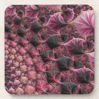 Porta-copo Fractal cor-de-rosa