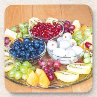 Porta-copo Fruta fresca do verão da variedade na escala de
