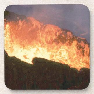 Porta-copo fulgor do fogo vulcânico