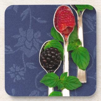 Porta-copo fundo da fruta de baga