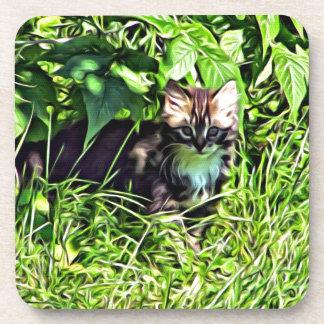 Porta-copo Gatinho pequeno curioso