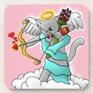 Porta-copo Gato cinzento do Cupido de Smokey do dia dos
