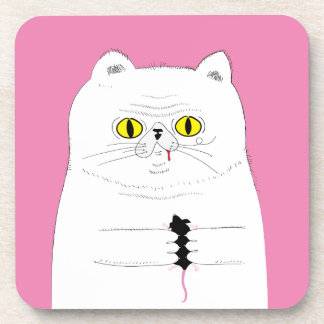 Porta-copo Gato com o desenho engraçado do rato