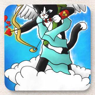 Porta-copo Gato do Cupido do smoking do dia dos namorados