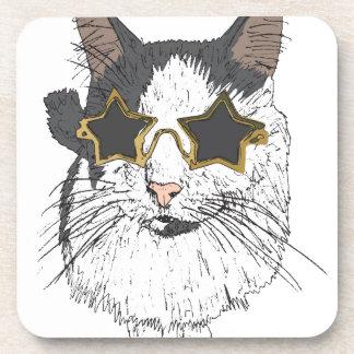 Porta-copo Gato que veste vidros da estrela