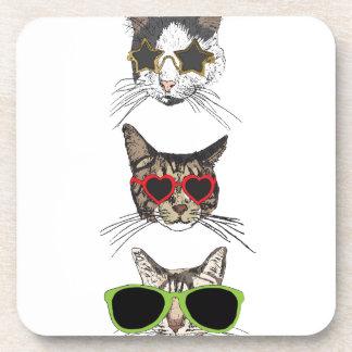 Porta-copo Gatos que vestem óculos de sol