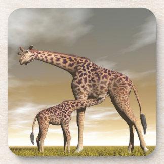 Porta-copo Girafa da mãe e do bebê - 3D rendem