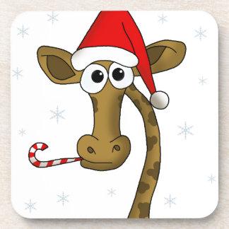 Porta-copo Girafa do Natal