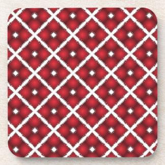 Porta-copo Globos vermelhos, teste padrão branco do vintage