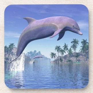 Porta-copo Golfinho nos trópicos - 3D rendem