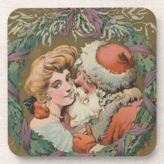 Porta-copo Grinalda de beijo do Natal do papai noel do