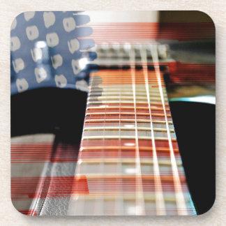 Porta-copo Guitarra elétrica da guitarra da bandeira dos EUA