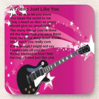 Porta-copo Guitarra - poema cor-de-rosa do amigo