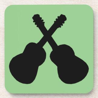 Porta-copo guitarra pretas