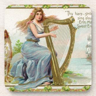 Porta-copo Harpa & senhora originais do dia de patrick de