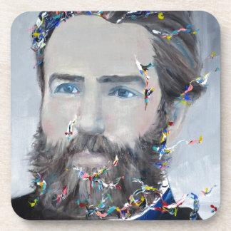 Porta-copo Herman Melville - retrato do óleo