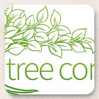 Porta-copo Ícone do conceito da árvore