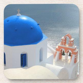 Porta-copo Igreja de Santorini na tarde Sun