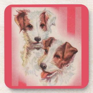 Porta-copo Ilustração BONITO dos terrier de Jack Russell