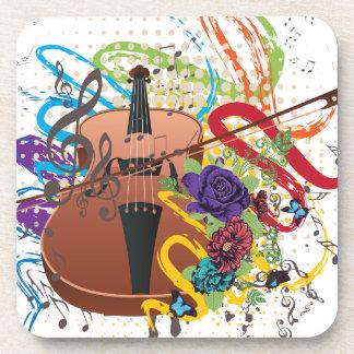 Porta-copo Ilustração do violino do Grunge
