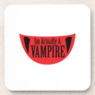 Porta-copo Im engraçado realmente um vampiro o Dia das Bruxas