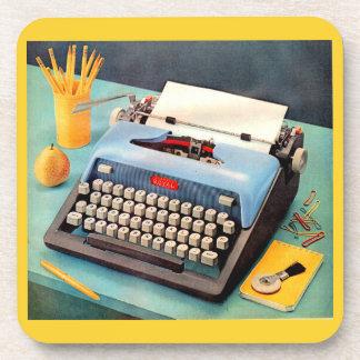 Porta-copo imagem do anúncio da máquina de escrever dos anos
