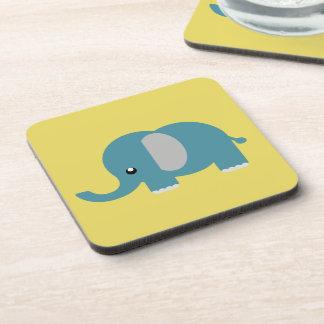 Porta-copo Impressões do elefante em portas copos