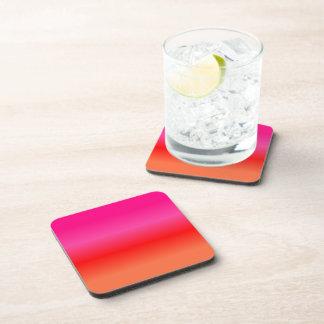 Porta-copo Inclinação cor-de-rosa, vermelho e alaranjado