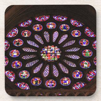 Porta-copo Janela da catedral de Leon, EL Camino, espanha