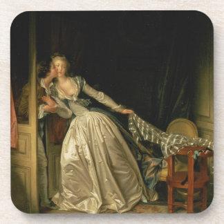 Porta-copo Jean-Honore Fragonard - o beijo roubado - belas