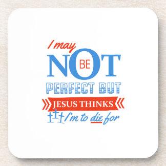 Porta-copo Jesus pensa que eu devo morrer para