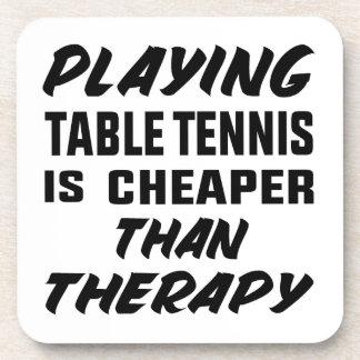 Porta-copo Jogar o ténis de mesa é mais barato do que a