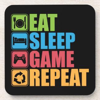 Porta-copo Jogo - coma, durma, jogo, repetição - Gamer,