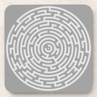 Porta-copo Labirinto cinzento