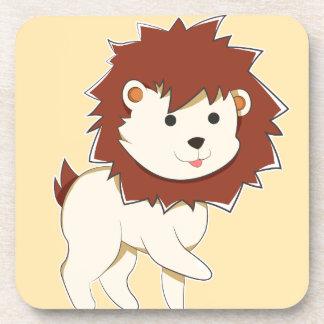 Porta-copo Leão feliz do bebê dos desenhos animados